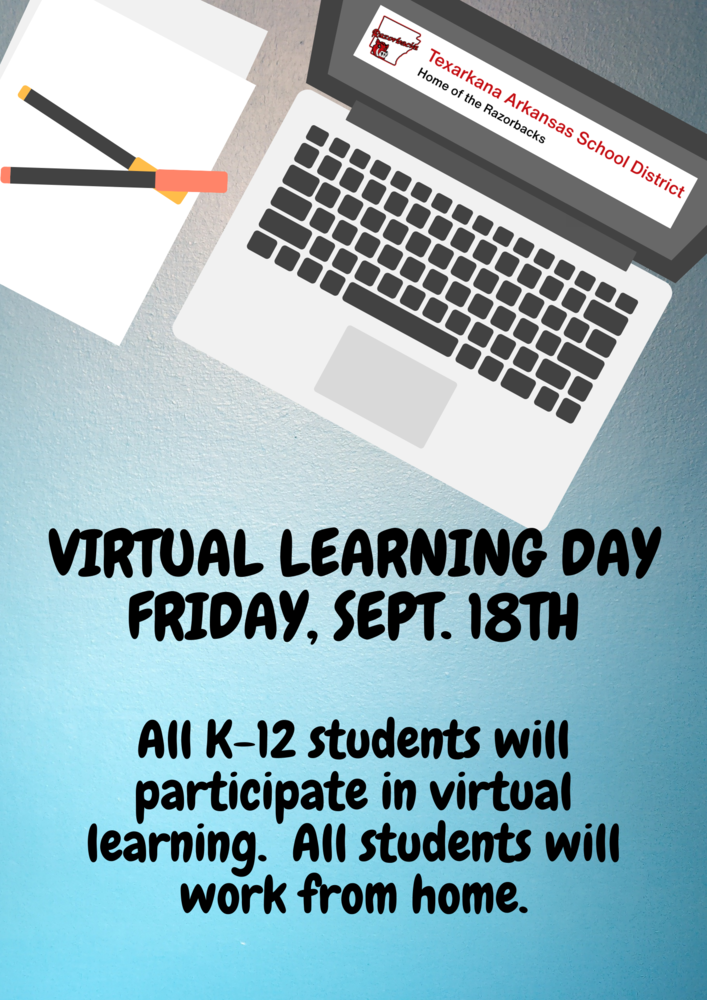 Virtual Learning Day: September 18th