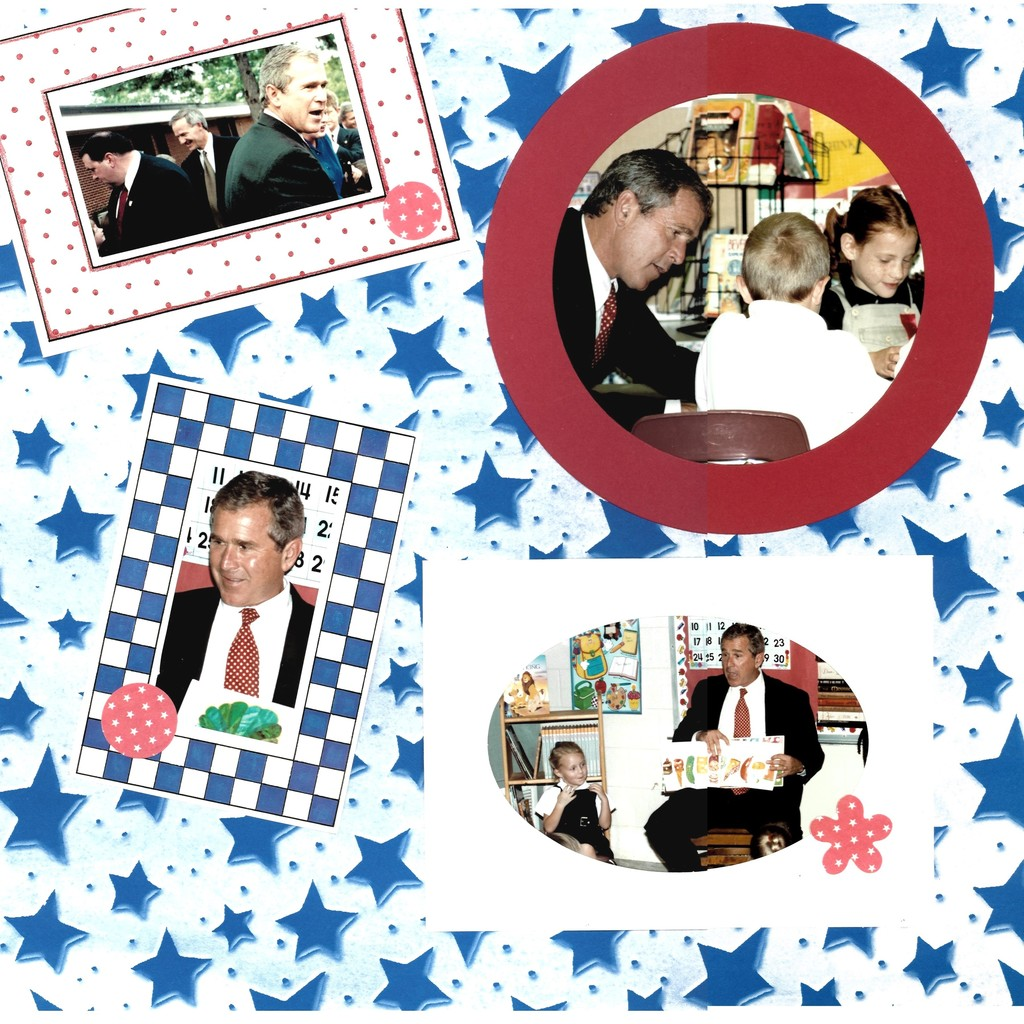 President Bush visits College Hill Elementary