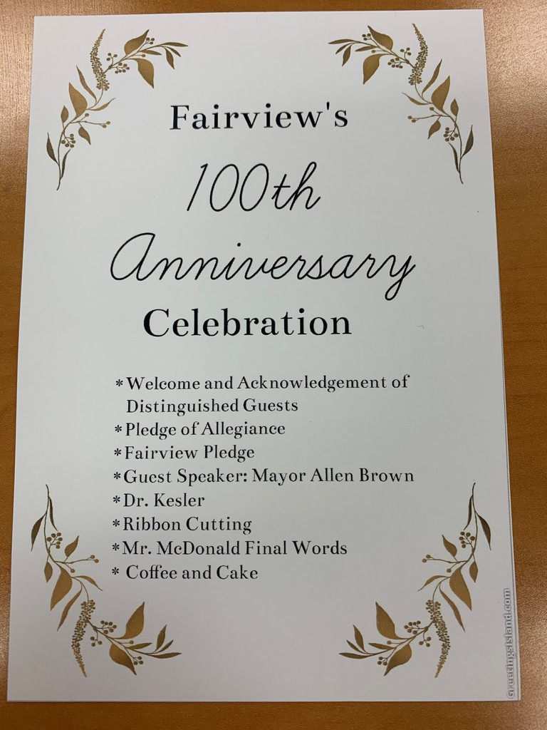 Fairview 100th Anniversary Celebration