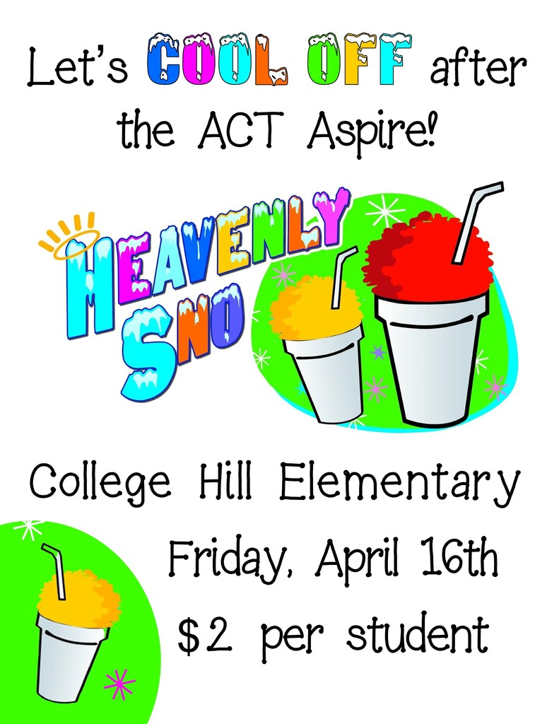 Snow Cones $2 on Friday