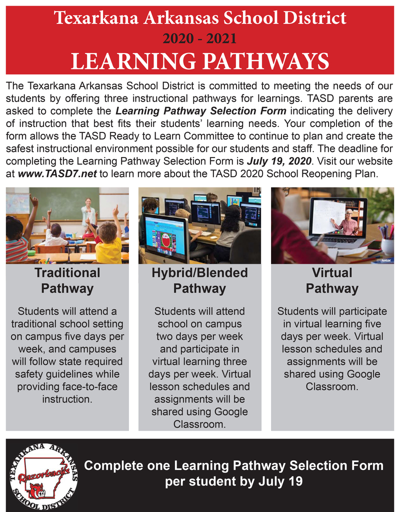 Learning pathways flyer