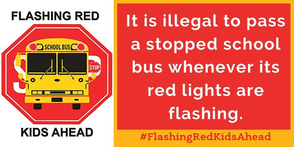 Flashing Red Kids Ahead