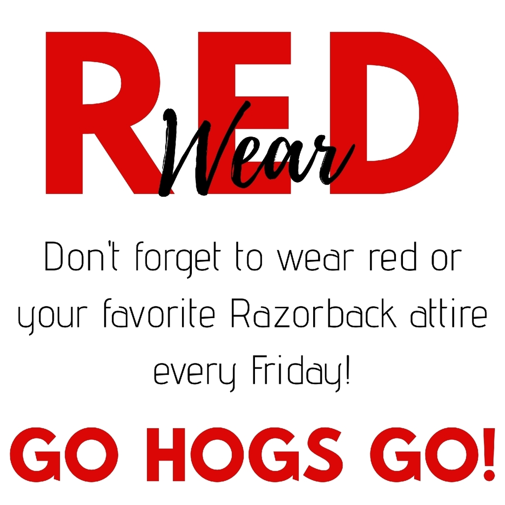Wear red or Razorback attire every Friday!