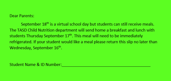 Lunch for virtual day